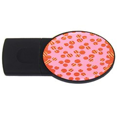 Distance Absence Sea Holes Polka Dot Line Circle Orange Chevron Wave Usb Flash Drive Oval (2 Gb) by Mariart