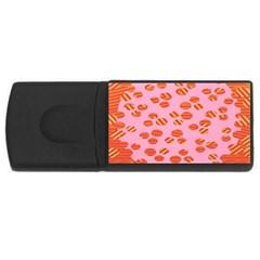 Distance Absence Sea Holes Polka Dot Line Circle Orange Chevron Wave Usb Flash Drive Rectangular (4 Gb) by Mariart