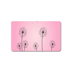 Flower Back Pink Sun Fly Magnet (name Card) by Mariart