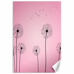 Flower Back Pink Sun Fly Canvas 24  X 36
