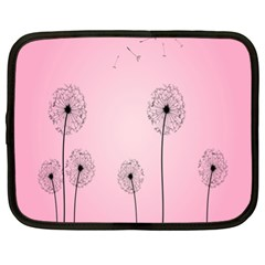 Flower Back Pink Sun Fly Netbook Case (xl)  by Mariart