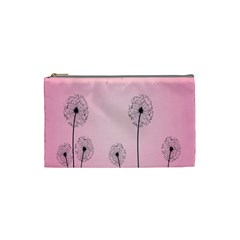 Flower Back Pink Sun Fly Cosmetic Bag (small)  by Mariart