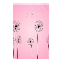 Flower Back Pink Sun Fly Shower Curtain 48  X 72  (small)  by Mariart