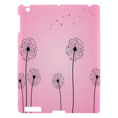 Flower Back Pink Sun Fly Apple Ipad 3/4 Hardshell Case by Mariart