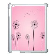 Flower Back Pink Sun Fly Apple Ipad 3/4 Case (white) by Mariart