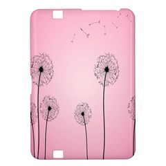 Flower Back Pink Sun Fly Kindle Fire Hd 8 9  by Mariart