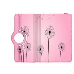 Flower Back Pink Sun Fly Kindle Fire Hdx 8 9  Flip 360 Case by Mariart