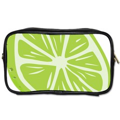 Gerald Lime Green Toiletries Bags by Mariart