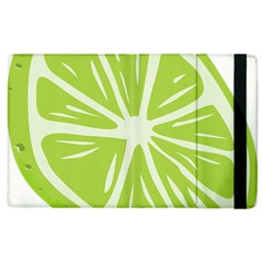 Gerald Lime Green Apple Ipad 2 Flip Case by Mariart