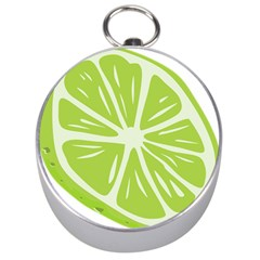 Gerald Lime Green Silver Compasses by Mariart