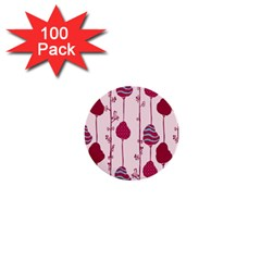 Flower Floral Mpink Frame 1  Mini Buttons (100 Pack)  by Mariart