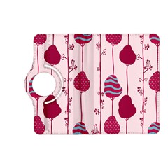 Flower Floral Mpink Frame Kindle Fire Hd (2013) Flip 360 Case by Mariart