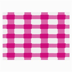 Hot Pink Brush Stroke Plaid Tech White Large Glasses Cloth by Mariart