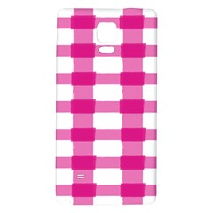 Hot Pink Brush Stroke Plaid Tech White Galaxy Note 4 Back Case by Mariart