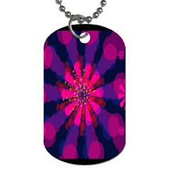 Flower Red Pink Purple Star Sunflower Dog Tag (two Sides) by Mariart