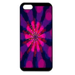 Flower Red Pink Purple Star Sunflower Apple Iphone 5 Seamless Case (black) by Mariart