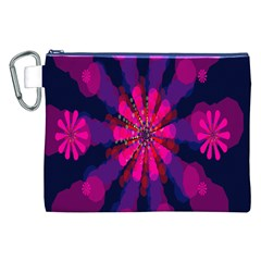 Flower Red Pink Purple Star Sunflower Canvas Cosmetic Bag (xxl) by Mariart