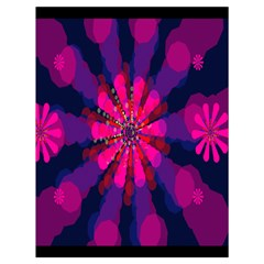 Flower Red Pink Purple Star Sunflower Drawstring Bag (large) by Mariart