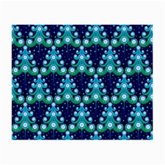 Christmas Tree Snow Green Blue Small Glasses Cloth by Mariart