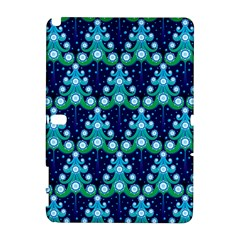 Christmas Tree Snow Green Blue Galaxy Note 1 by Mariart