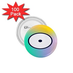 Illustrated Circle Round Polka Rainbow 1 75  Buttons (100 Pack)  by Mariart
