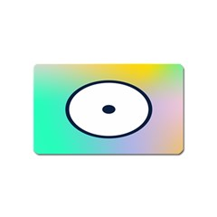 Illustrated Circle Round Polka Rainbow Magnet (name Card) by Mariart