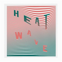 Heat Wave Chevron Waves Red Green Medium Glasses Cloth by Mariart