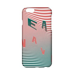 Heat Wave Chevron Waves Red Green Apple Iphone 6/6s Hardshell Case by Mariart