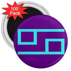 Illustrated Position Purple Blue Star Zodiac 3  Magnets (100 Pack) by Mariart