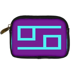 Illustrated Position Purple Blue Star Zodiac Digital Camera Cases by Mariart