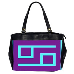 Illustrated Position Purple Blue Star Zodiac Office Handbags (2 Sides)  by Mariart