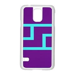 Illustrated Position Purple Blue Star Zodiac Samsung Galaxy S5 Case (white) by Mariart