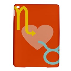 Illustrated Zodiac Love Heart Orange Yellow Blue Ipad Air 2 Hardshell Cases by Mariart