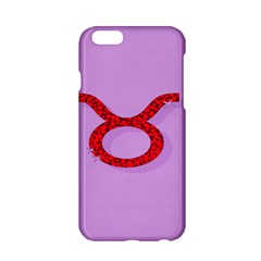 Illustrated Zodiac Purple Red Star Polka Circle Apple Iphone 6/6s Hardshell Case by Mariart