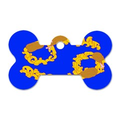 Illustrated 69 Blue Yellow Star Zodiac Dog Tag Bone (two Sides) by Mariart