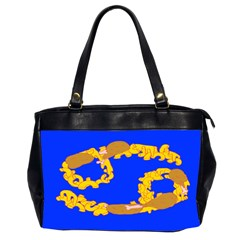 Illustrated 69 Blue Yellow Star Zodiac Office Handbags (2 Sides)  by Mariart