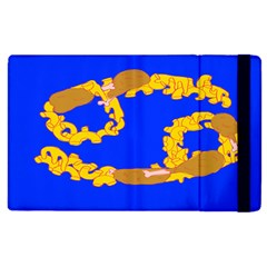 Illustrated 69 Blue Yellow Star Zodiac Apple Ipad 3/4 Flip Case by Mariart