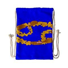 Illustrated 69 Blue Yellow Star Zodiac Drawstring Bag (small) by Mariart