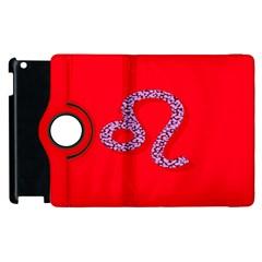 Illustrated Zodiac Red Purple Star Polka Dot Apple Ipad 2 Flip 360 Case by Mariart