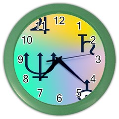 Illustrated Zodiac Star Color Wall Clocks by Mariart