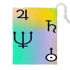 Illustrated Zodiac Star Drawstring Pouches (xxl) by Mariart