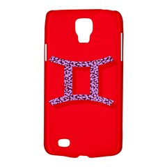 Illustrated Zodiac Red Purple Star Polka Dot Grey Galaxy S4 Active by Mariart