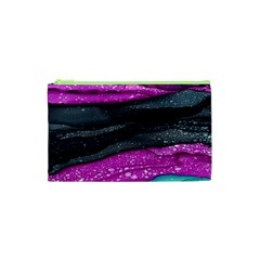 Green Pink Purple Black Stone Cosmetic Bag (xs) by Mariart