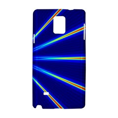 Light Neon Blue Samsung Galaxy Note 4 Hardshell Case by Mariart
