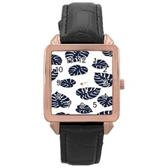 Leaf Summer Tech Rose Gold Leather Watch  by Mariart