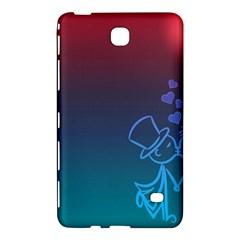 Love Valentine Kiss Purple Red Blue Romantic Samsung Galaxy Tab 4 (8 ) Hardshell Case  by Mariart