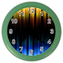 Light Orange Blue Color Wall Clocks by Mariart