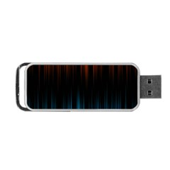 Light Orange Blue Portable Usb Flash (one Side) by Mariart