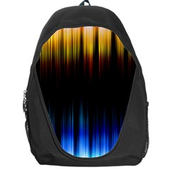 Light Orange Blue Backpack Bag by Mariart