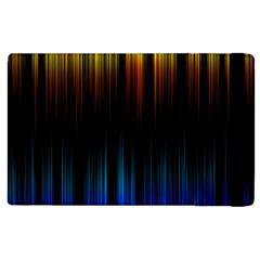 Light Orange Blue Apple Ipad 3/4 Flip Case by Mariart